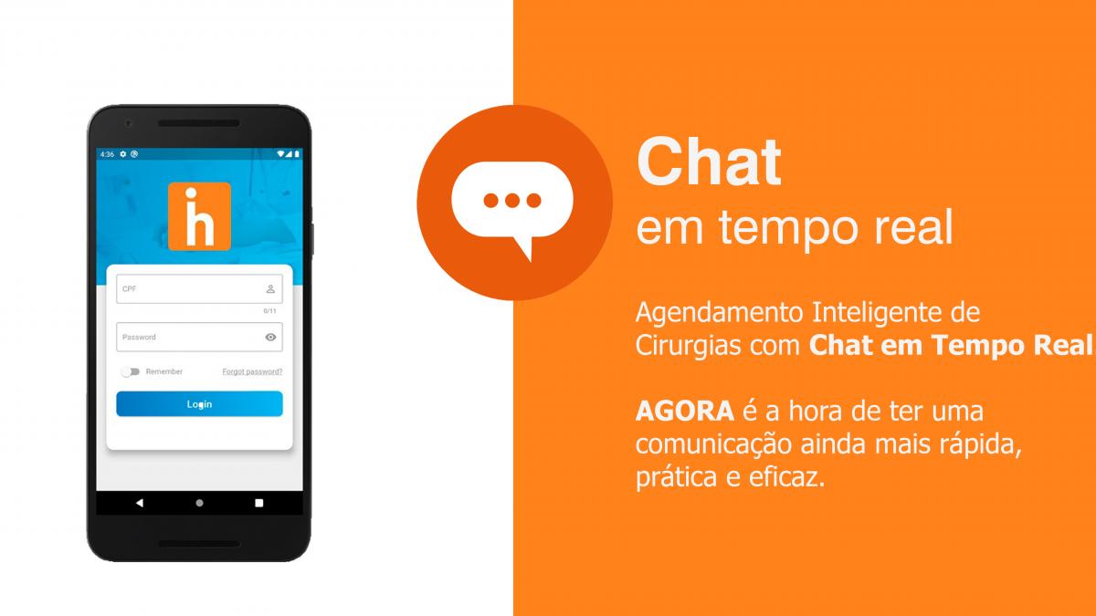 💬 Chat em tempo real: comunicação ágil entre as equipes e cirurgiões